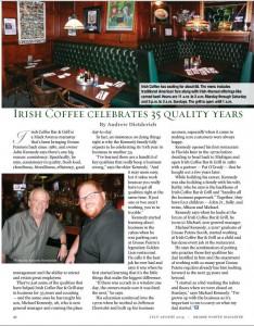 Irish Coffee Celebrates 35 Quality Years (Grosse Pointe Magazine - July-Aug. 2015)